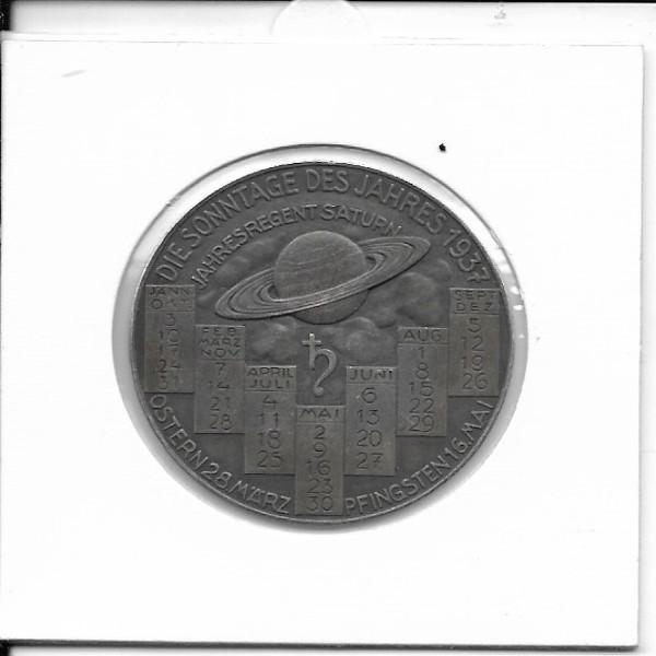 1937 Kalendermedaille Jahresregent Silber