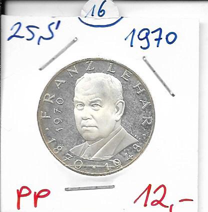 25 Schilling 1970 Franz Lehar PP ANK Nr. 016