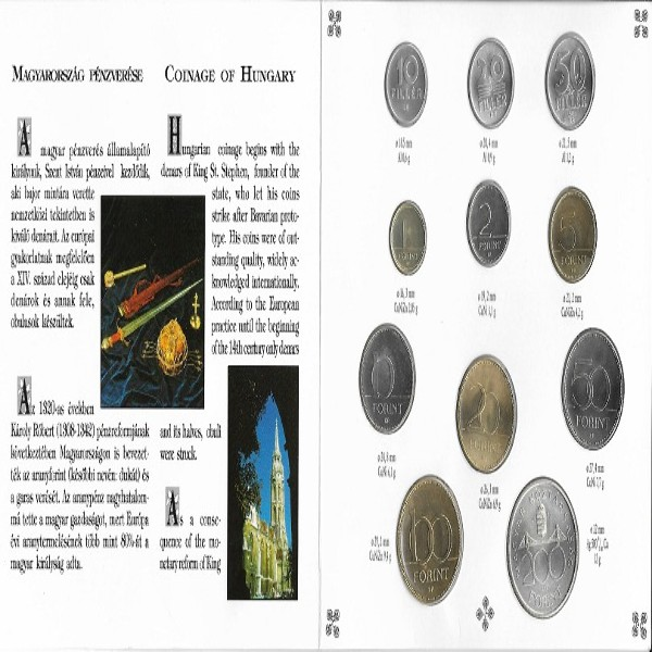 Ungarn Original KMS Coin Set 1993 Blister