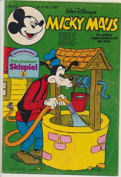 Micky Maus Nr. 9/1980