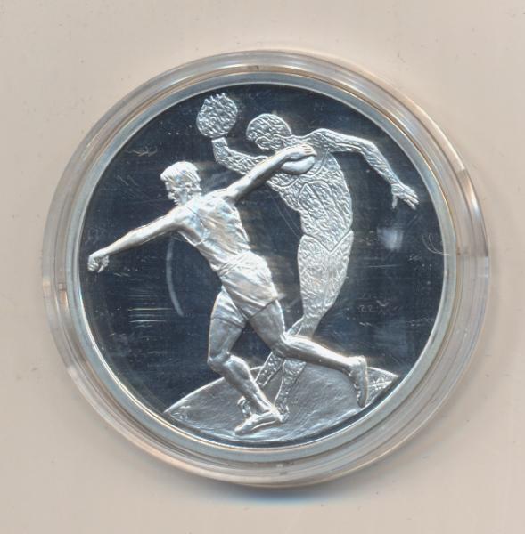 "10 Euro 2004 Griechenland ""Olympische Spiele Athen"" - Diskuswerfer PP Silber Ag"