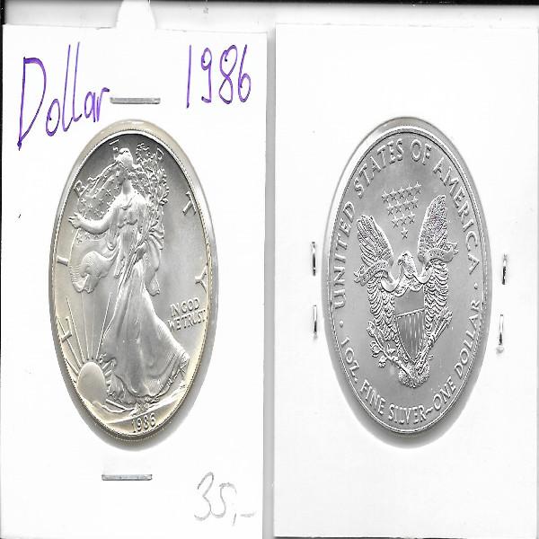 1 Dollar Silber Eagle Unze 1986