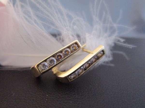 Ohrringe mit Zirkonia 585 Gold 2,4 Gramm