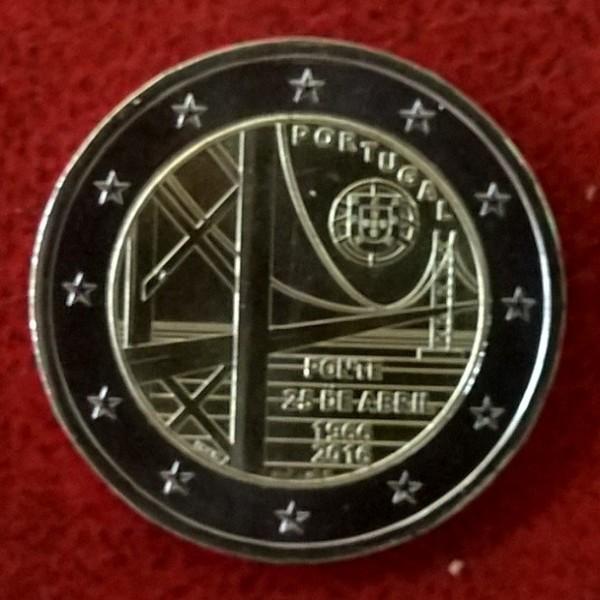 2 Euro Portugal 2016 25 Jahre Brücke des 25.April