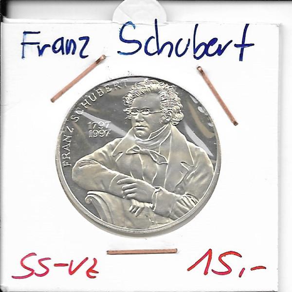 Casino Jeton 100 Schilling Franz Schubert 1997 Casinos Austria Silber