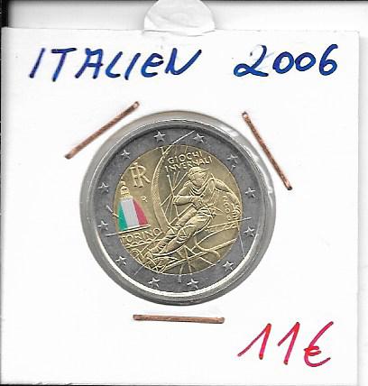 2 Euro Italien 2006 Olympiade Turin Coloriert