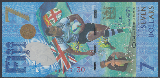 Fiji - 7 Dollars 20016-17 UNC - Pick 120