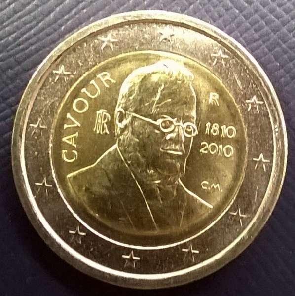 2 Euro Italien 2010 Benso Graf von Cavour