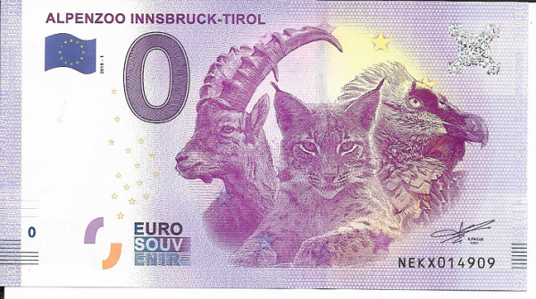 ANK.Nr.07 Innsbruck Tirol - Unc 0 Euro Schein 2018-1