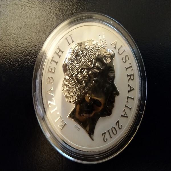 Australien 1 Dollar 2012 Kängaru 31,1g Silber 1 Unze