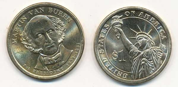 USA 1 Dollar 2008 D Martin van Buren (8)
