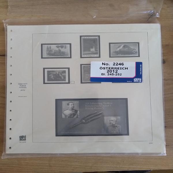 Safe Dual Nachtrag 2012 gebraucht Blatt 245 bis 252