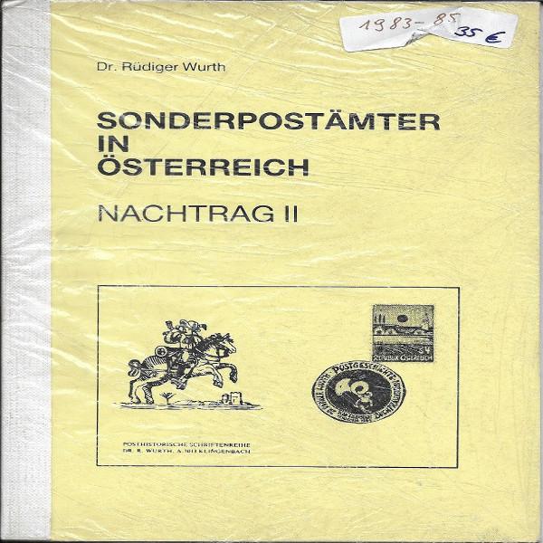 Sonderpostämter in Österreich Nachtrag 2 Dr.Würth Sonderstempelkatalog 1983-85