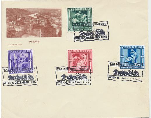 Tag der Briefmarke 6.12.1936 Winterhilfe 3 Ausgabe