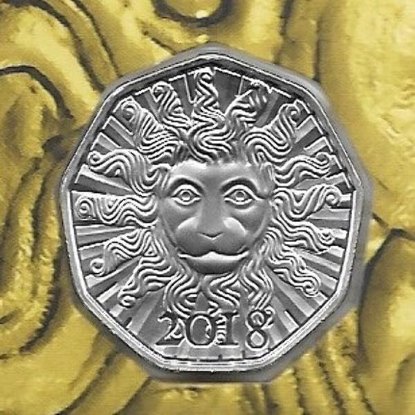 5 Euro Silber 2018 Neujahrsmünze Löwenkraft HGH Blister