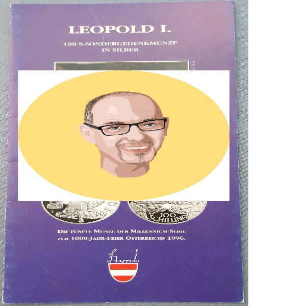 1993 100 Schilling - Leopold I silber nur Flyer Folder