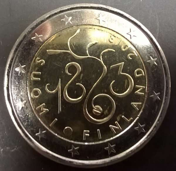 2 Euro Finnland 2013 150 Jahre Parlament