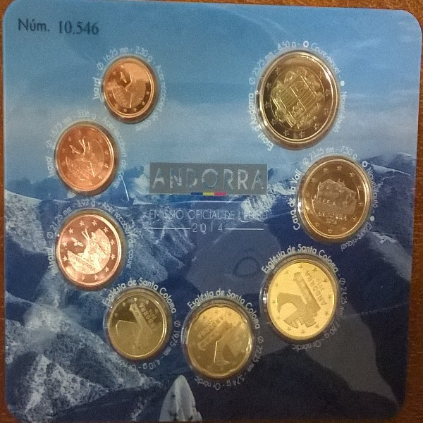 Kursmünzenset KMS Coinset Andorra 2014