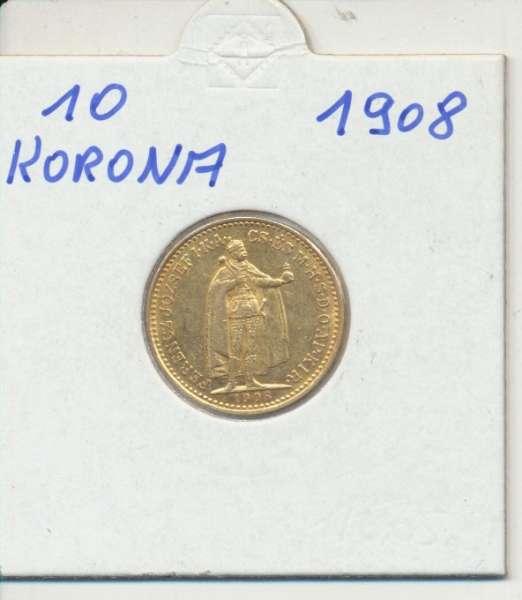 10 Korona 1908 KB Franz Joseph I Gold