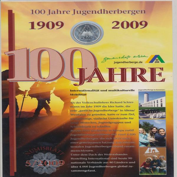 Numisblatt Deutschland 5/2009 »100 Jahre Jugendherbergen 1909 - 2009« mit Gedenkmünze 10 €