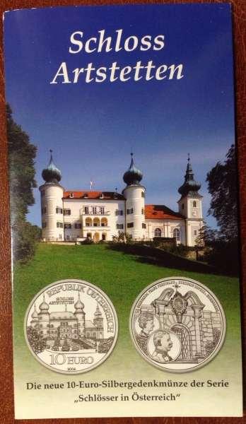 10 Euro Silber 2004 Schloss Artstetten HgH ANK Nr. 06