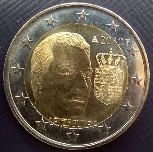 2 Euro Luxemburg 2010 Wappen mit Henri