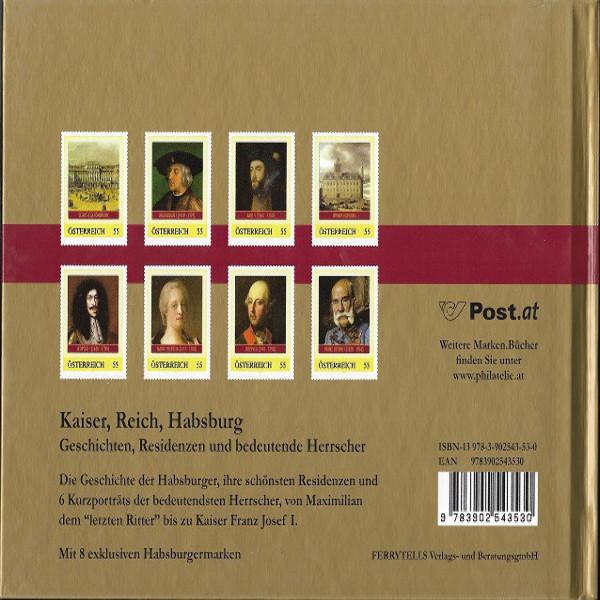 Briefmarkenbuch Kaiser Reich Habsburg mit 8 exklusiven Briefmarken