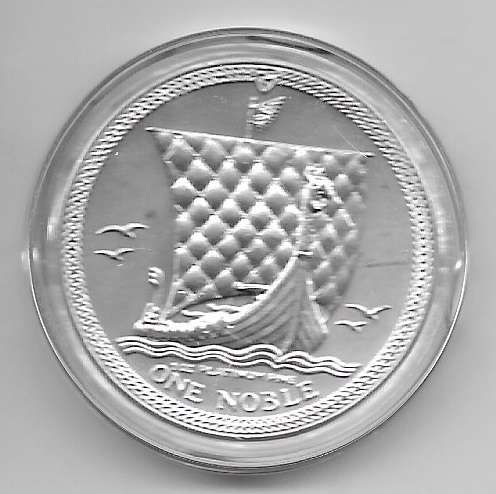 1 unze Platin Isle of Man 1986 one Noble