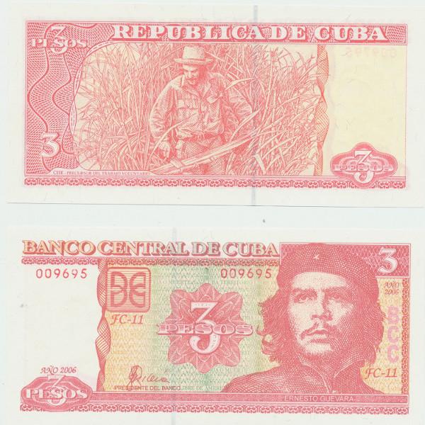 Kuba 3 Pesos 2006 (P.) Erh. UNC