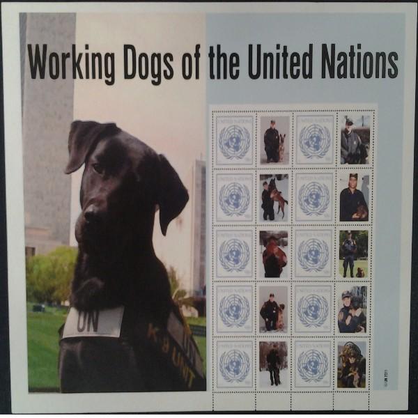 UNO New York GRUSSMARKEN 98 C BOGEN 2011 Dog Postfrisch (15)