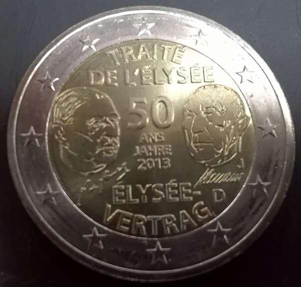 2 Euro Deutschland 2013 Elysee-Vertrag