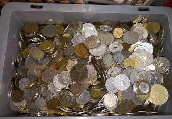 1 Kilo Münzen alle Welt