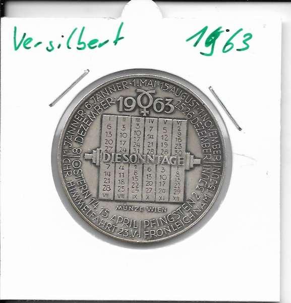 1963 Kalendermedaille Jahresregent Universität s Bund Innsbruck Bronze versilbert