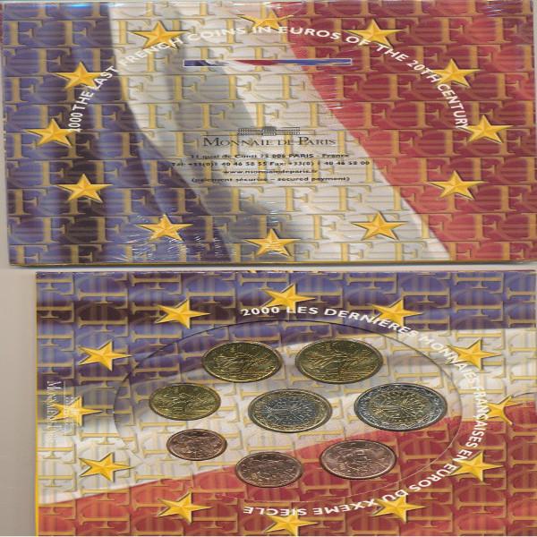 Kursmünzenset KMS Coinset Frankreich 2000 Blister