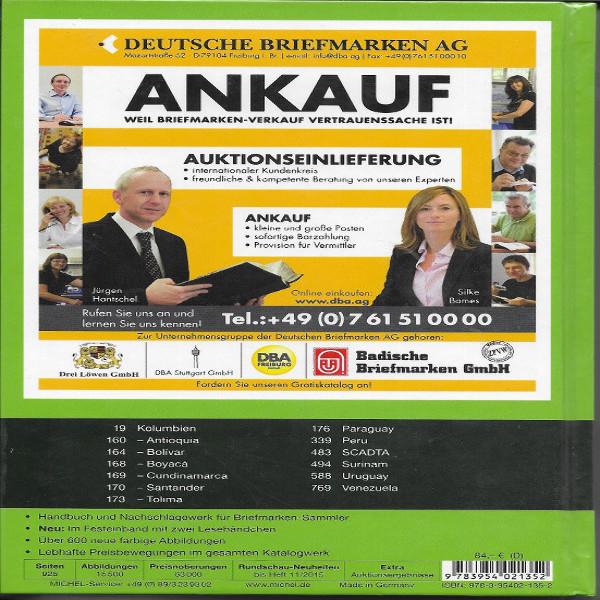 Michel Übersee Katalog Nr.3 Südamerika 2016/17 Teil 2 K-Z 40.Auflage