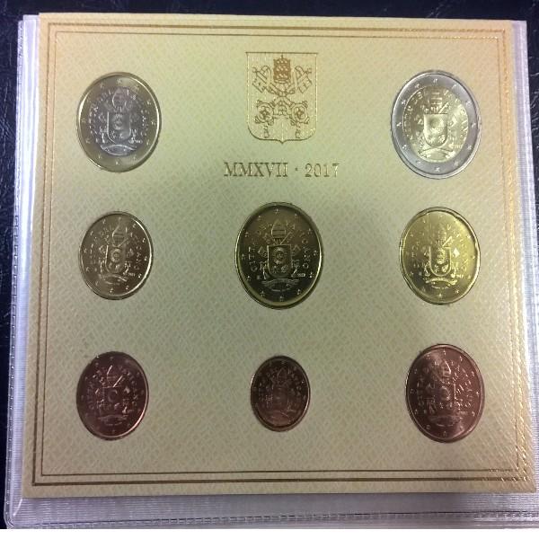 Kursmünzensatz Vatikan 2017 KMS Coinset