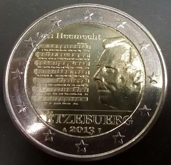 2 Euro Luxemburg 2013 Nationalhymne