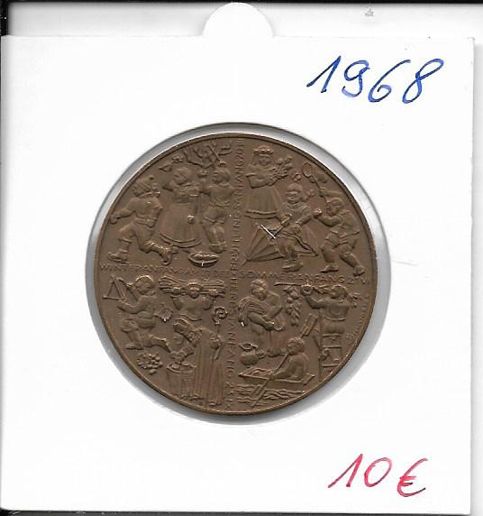 1968 Kalendermedaille Jahresregent Bronze