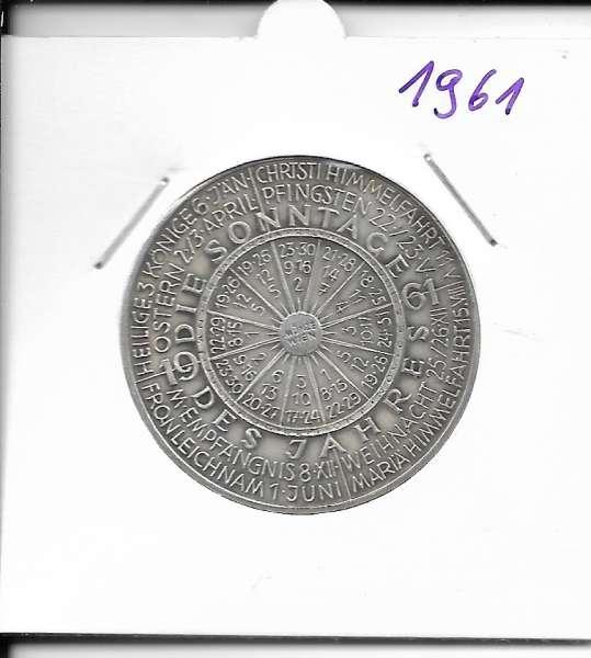 1961 Kalendermedaille Jahresregent Universität s Bund Innsbruck Bronze versilbert