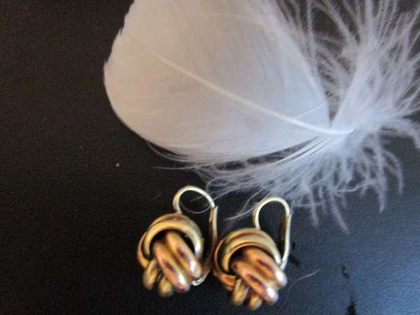 Ohrringe 585 Gold ca 4.1 Gramm Carissima Gold