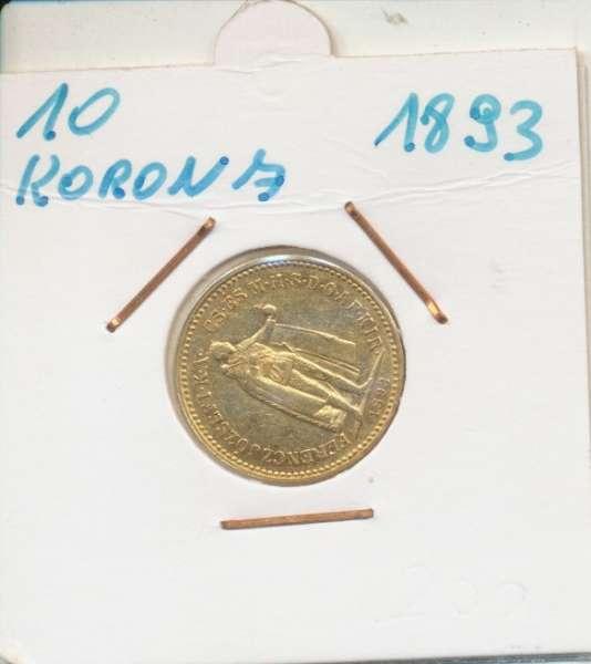 10 Korona 1893 KB Franz Joseph I Gold