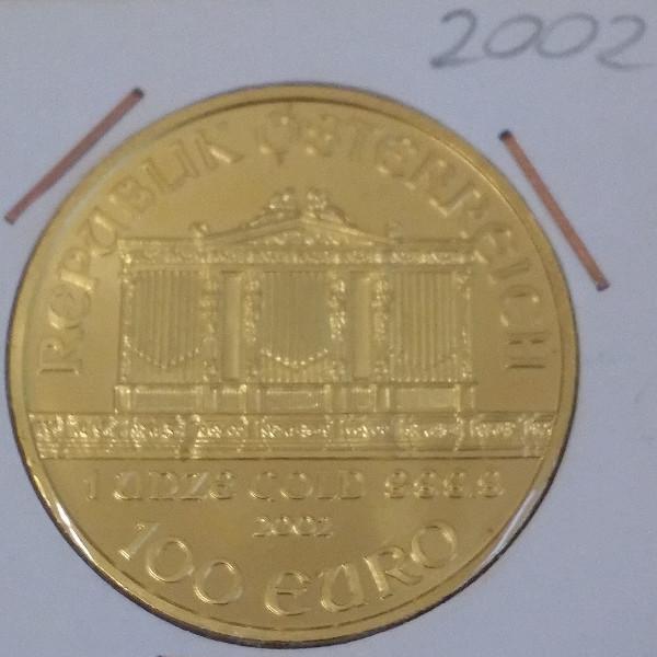 2002 Philharmoniker 1unze 100 Euro 31,1 Gramm