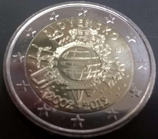 2 Euro Slowakei 2012 10 Jahre Euro
