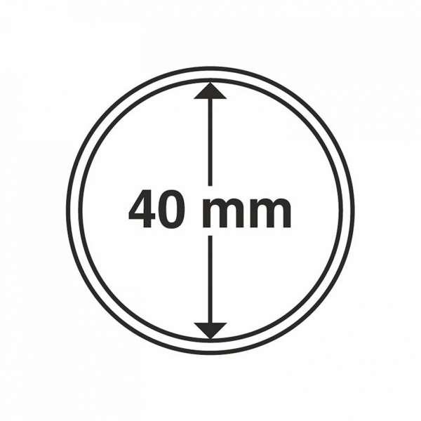 MÜNZKAPSELN CAPS 40 MM, 10 ER PACK