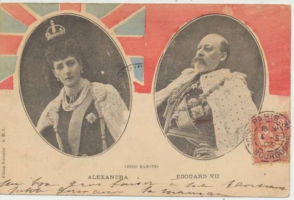 Leurs Majestes Alexandra & Eduard VII ca.1903