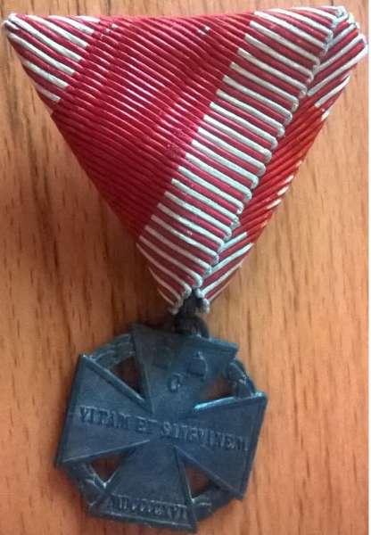 Österreich Karl Truppenkreuz 1916 am Dreiecksband 1WK