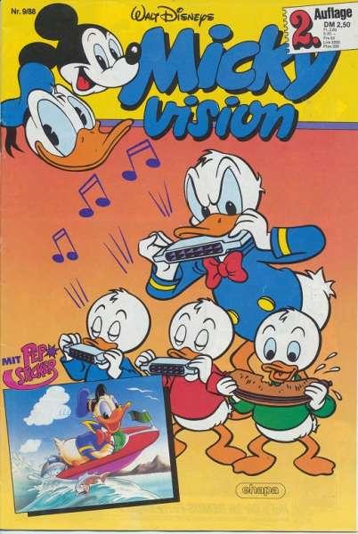 Mickyvision 2.Auflage Heft Nr. 9/1988