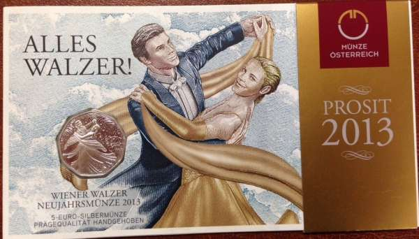 5 Euro Silber Wiener Walzer 2013 Blister ANK Nr. 23a