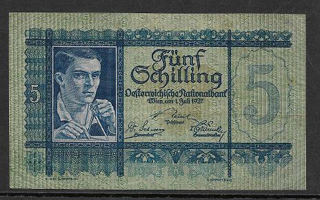 5 Schilling 1 Juli 1927 Ank.Nr.218 Nr. 1001 763478