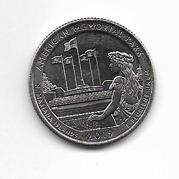 "USA 25 Cent 2019 P ""Beautiful Quarter - American Memorial Park"" - (47)"